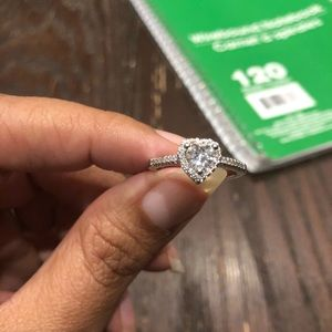 Evolving Always Jewelry - New Heart Shaped Cubic Zirconia 925 SS Stamped